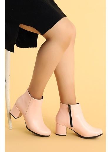 Ayakland Ayakland 520 Cilt 6 Cm Topuk Termo Taban Bayan Bot Ayakkabı Pudra